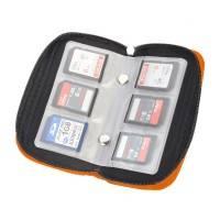 Förvaringsväska för minneskort 22i1 - Orange
