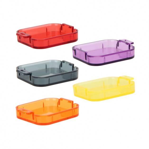 Färgfilter för dyking Gul + Röd + Lila + Orange + Grå - Paket Hero5
