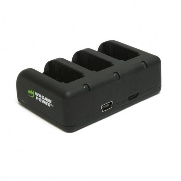 Wasabi Power Batteriladdare för GoPro Hero4/3 batterier - Trippel AHDBT-401, 301, 201