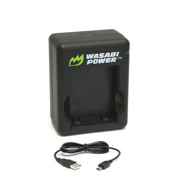 Wasabi Power Batteriladdare för GoPro Hero3+/3 batterier - Dubbel AHDBT-302, 301, 201