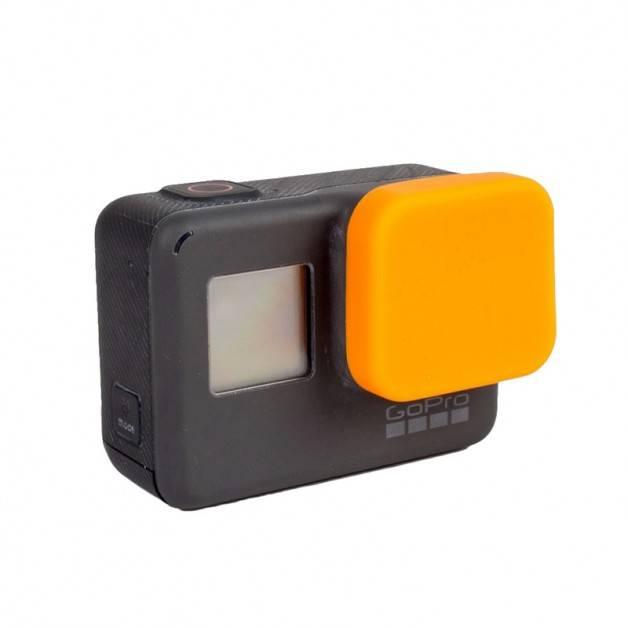 Linsskydd till GoPro Hero5 i Silikon - Orange