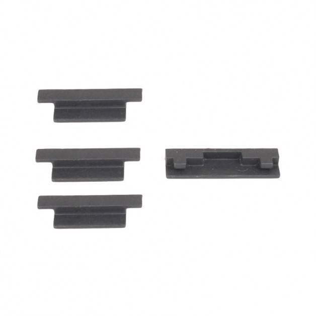 Skydd / Plugg för batterikontakter till DJI Spark - Silikon - Grå - Kit