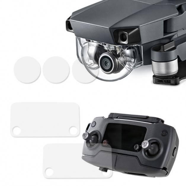 Skyddande film för kameralins / Fjärrkontroll till DJI Mavic Pro - Multi-pack - Kit