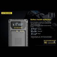 Nitecore Batteriladdare FX1 för Fujifilm NP-W126 batterier - Dubbel