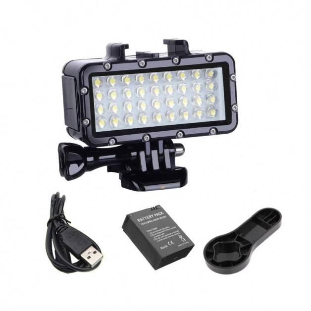 Belysning LED vattentät dyklampa till GoPro - 500lm