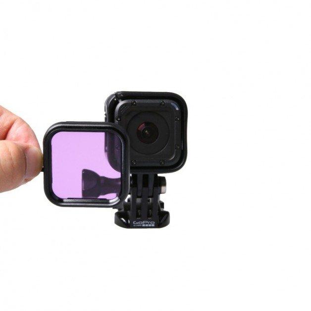 Färgfilter till GoPro Hero4 Session för dykning - Lila