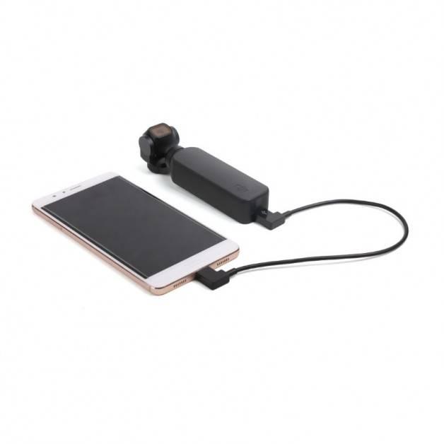 Datakabel för DJI Osmo Pocket 1/2 till iPhone - USB-C till Lightning - 20cm
