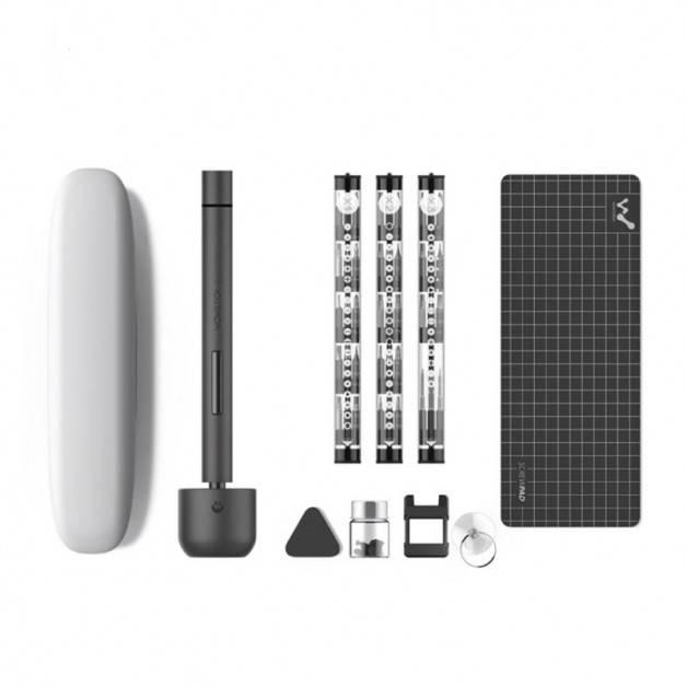 Wowstick 1F+  Elektrisk skruvmejsel - 69 i 1 - Kit - Rymdgrå