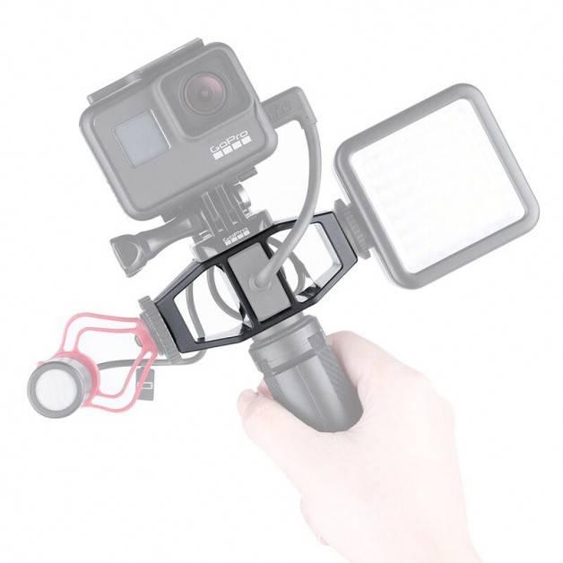 Hållare för Tillbehör Vlog med hot/cold shoe till GoPro