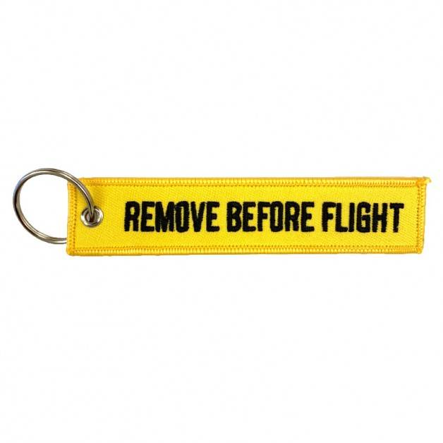 Nyckelband - REMOVE BEFORE FLIGHT- Gul/Svart