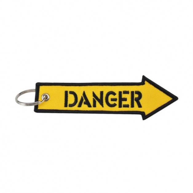 Nyckelband - DANGER - Gul pil