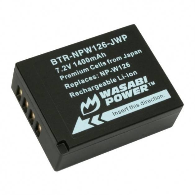 Wasabi Power Batteri till Fujifilm - ersätter Fujifilm NP-W126 / NP-W126S - 1400mAh