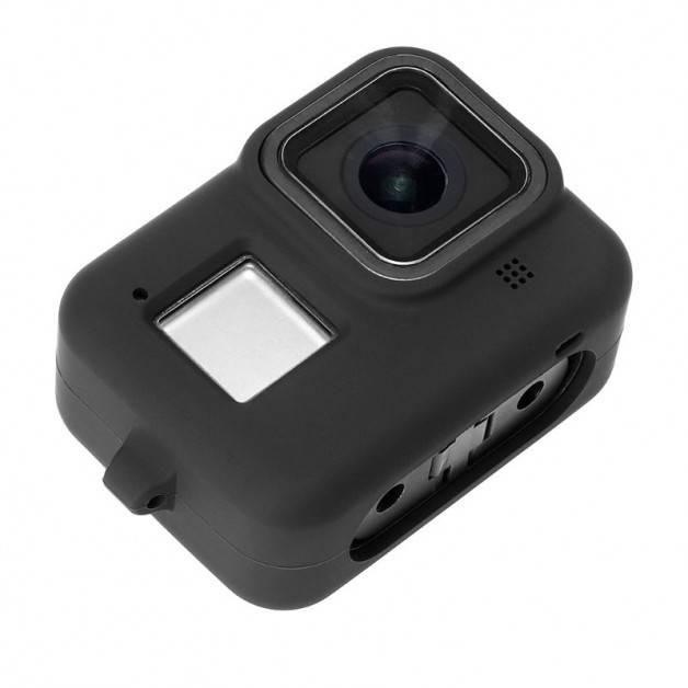 Silikonskal till GoPro Hero8 Black - Handledsrem - Svart