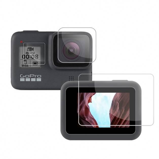 Linsskydd och Skärmskydd till GoPro Hero8 Black - Kit