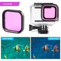 Färgfilter för dykning Lila - Hero8 Black i vattentätt skal