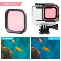 Färgfilter för dykning Ljusröd - Hero8 Black i vattentätt skal