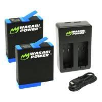 Wasabi Power Batterier och Batteriladdare - Dubbel - för GoPro Hero8/7/6/5 - Paket
