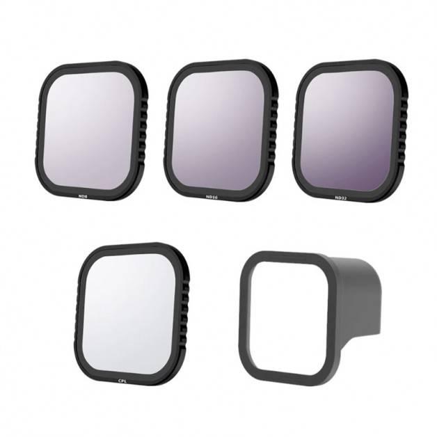 Filter 4-pack - ND8 + ND16 + ND32 + CPL till GoPro Hero8 Black - Kit
