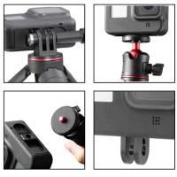 """Adapter Folding Fingers / 1/4"""" gänga till GoPro Hero8 Black/MAX - Aluminium - Kit"""