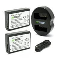Wasabi Power Batterier och Batteriladdare för Canon LP-E10 - Dubbel - Paket
