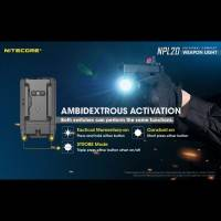 Nitecore NPL20 Ficklampa för Picatinny Vapenfäste - 460lm