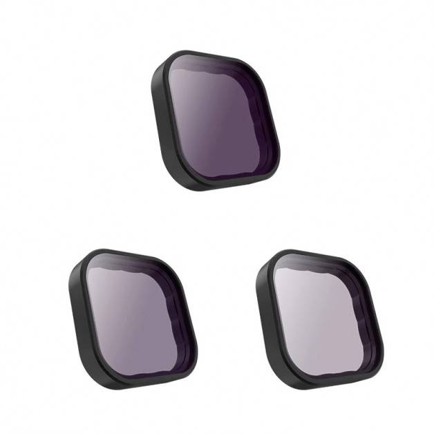 Filter 3-pack - ND8 + ND16 + ND32 till GoPro Hero9 Black - Kit
