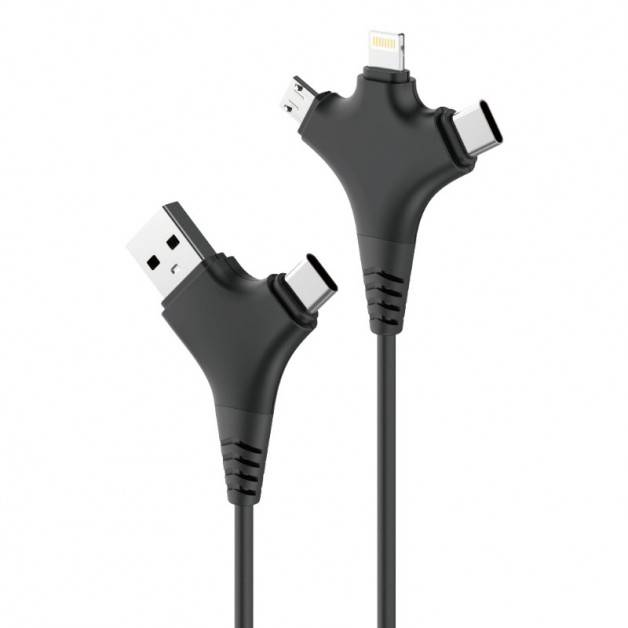 Forever All in 1 Cable - USB kabel 2.4A, 1m - Multi