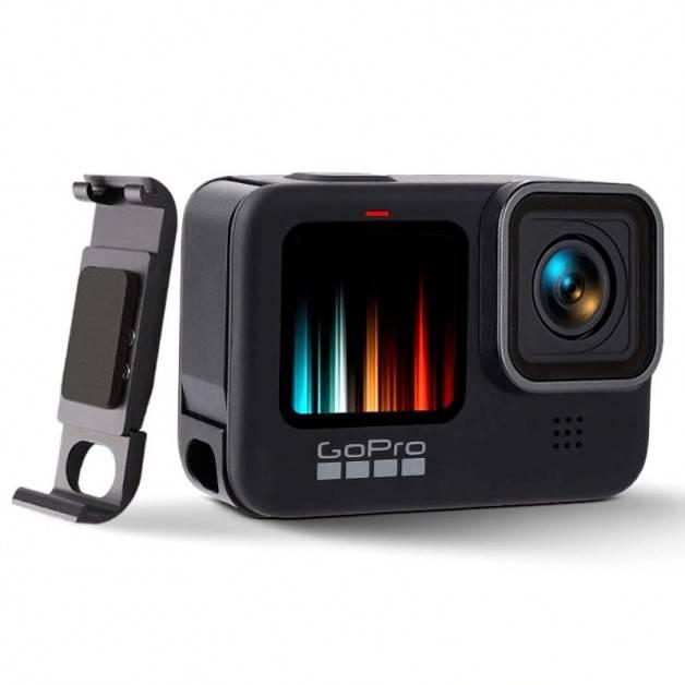 Batterilucka med genomföring USB till GoPro Hero9 Black - Aluminium