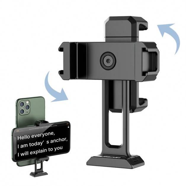 """Ulanzi ST-18 Fäste - hållare mobiltelefon med tillbehörshållare till 1/4"""" skruv - Dubbel - Aluminium"""