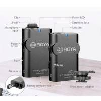 Boya BY-WM4 Pro-K1 Dual Channel Trådlös Mikrofon till Mobil / Kamera / PC - Kit