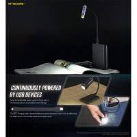 Nitecore Flexible USB Stand - Svanhals / Formbar USB-kabel USB A - MicroUSB