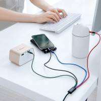 Baseus Rapid Series 4-in-1, USB kabel 3.5A, 1.2m - Multi, USB-C / 2 x Lightning / MicroUSB