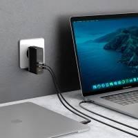 Baseus GaN2 Quick Charger - Väggladdare - Snabbladdare QC4+ / PD 120W - 100-240V till USB - 3xUSB Typ A/C - Svart