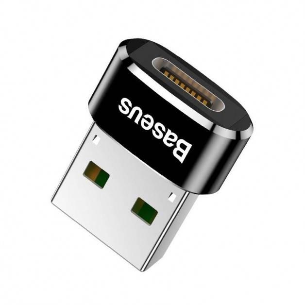 Baseus Adapter USB-C till USB-A, 5A - Svart