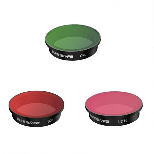 Filter 3-pack - CPL + ND8 + ND16 till DJI FPV - Kit