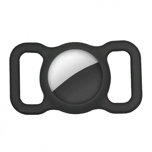 ActionKing Silikonfodral med öglor för Apple AirTag - Svart