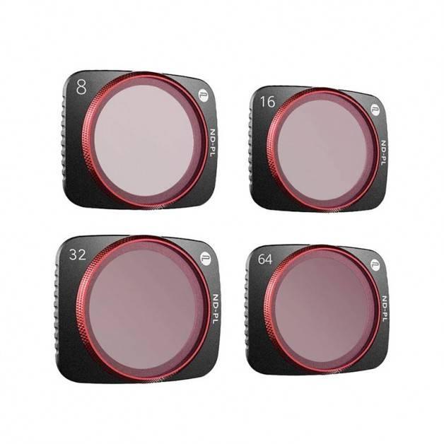 PGYTECH Filter 4-pack - ND8/PL + ND16/PL + ND32/PL + ND64/PL till DJI Air 2S - Kit