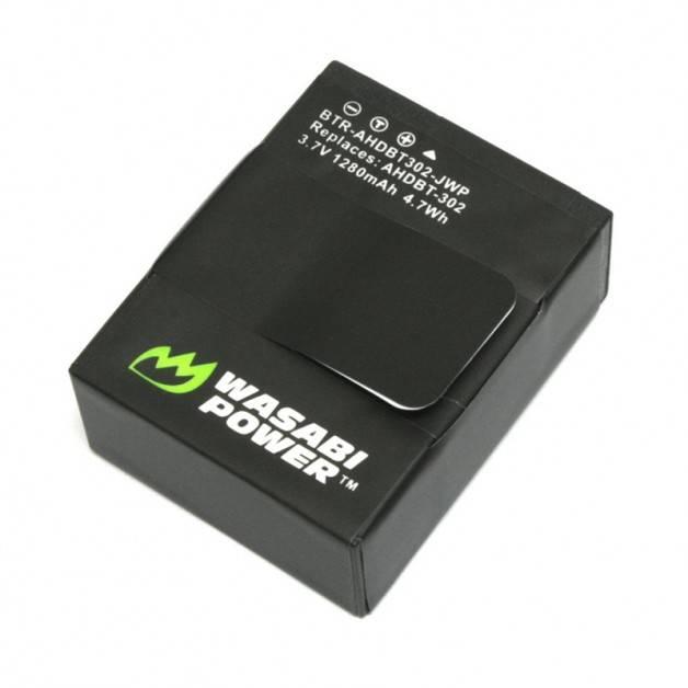 Wasabi Power Batteri till GoPro Hero3+/3 - ersätter AHDBT-301/AHDBT-302 - 1280mAh